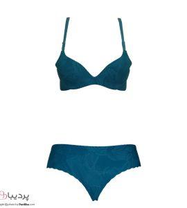 ست لباس زیر لیزری-آبی-نمای جلو