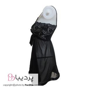 لباس خواب حریر شهره - کد 501 - نمای کنار
