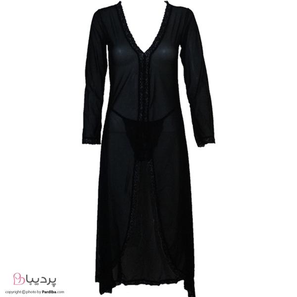 لباس خواب حریر شهره 5104 - نمای جلو