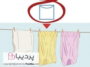 علائم روی لباسها را بهتر بشناسیم - خشک کردن روی بند