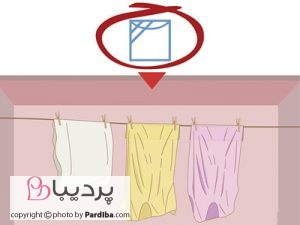 علائم روی لباسها را بهتر بشناسیم - خشک کردن در سایه روی بند