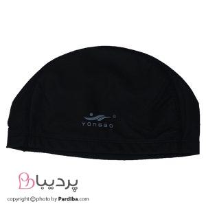 کلاه شنای لایکرا YONGBO - مشکی