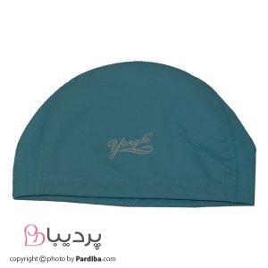 کلاه شنای لایکرا YONGBO - آبی روشن