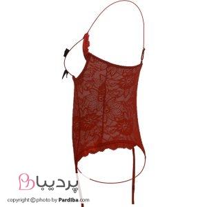 لباس خواب فانتزی کد 448 - قرمز - نمای کنار
