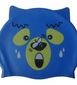 کلاه شنا واتر بچه گانه - طرح خرس - رنگ آبی